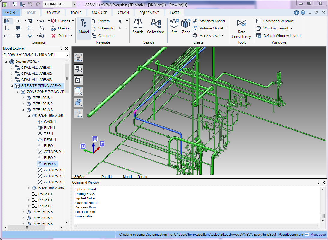 A Look At Aveva Everything 3d E3d Pdms Macro Piping Layout Tools